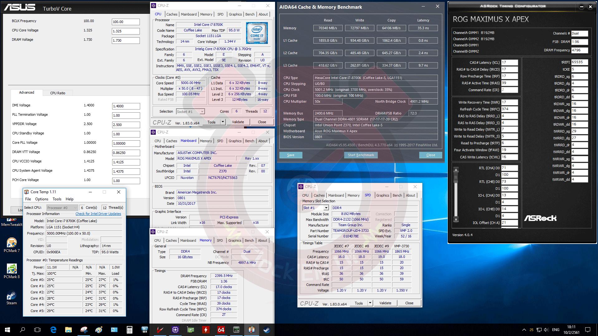 Ultimate Samsung B-Die DDR4 @ 4800CL17-17-17-39 Dual-CH on