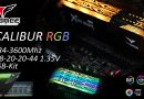 T-FORCE Xcalibur RGB DDR4-3600CL18 16GB-Kit