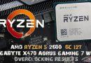 AMD RYZEN 5 2600 6C/12T Overclocking Results