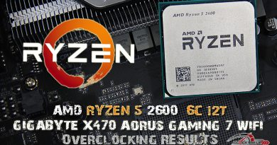 AMD RYZEN 5 2600 6C/12T Overclocking Results