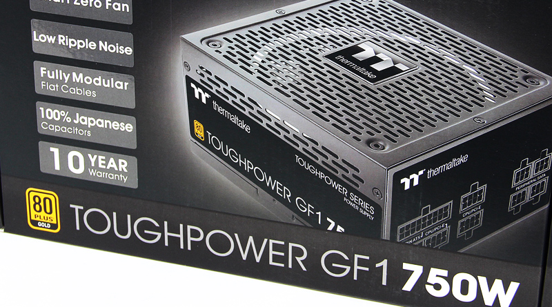 รีวิว Thermaltake Toughpower GF1 750Watt 80PLUS GOLD PSU
