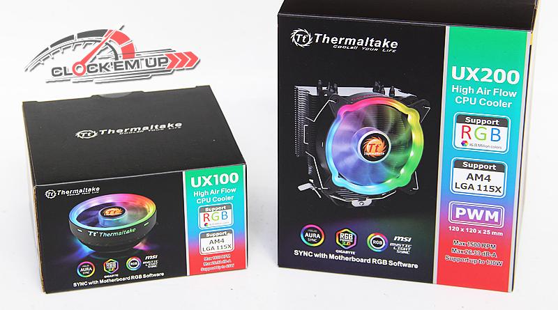 รีวิว Thermaltake UX100 & UX200 ARGB CPU Cooler