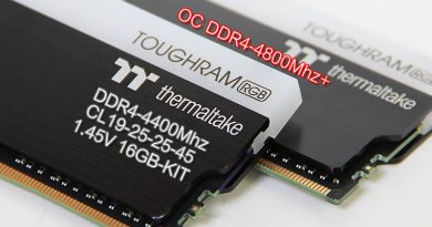 รีวิวแรมสุดแรง TT ToughRam RGB DDR4-4400Mhz CL19-25-25-45 1.45V 16GB-Kit (Hynix DJR)