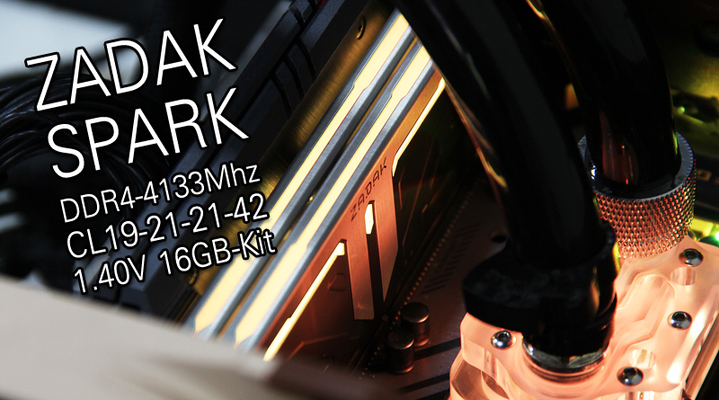 รีวิว ZADAK SPARK RGB DDR4-4133Mhz CL19 16GB-Kit