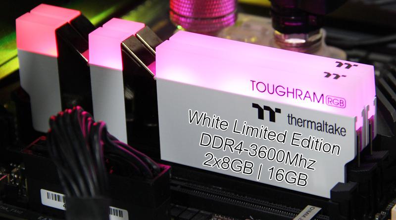 แรมสีขาวสุดหรู TT ToughRam RGB White Edition DDR4-3600Mhz CL18-29-29-39 16GB-Kit