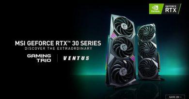 MSI เปิดตัวการ์ดจอ CUSTOM NVIDIA® GeForce RTX™ 30 SERIES เป็นครั้งแรก