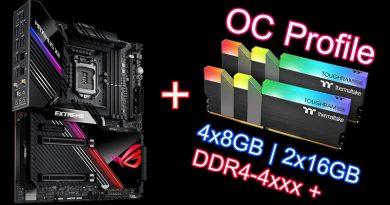 แจกโปรไฟล์ OC แรม TT ToughRAM RGB 4x8GB และ 2x16GB