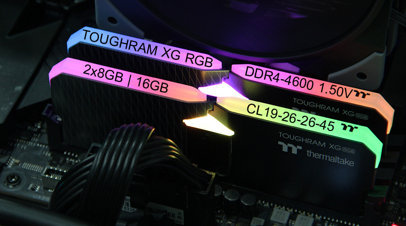 แรมสวยๆ Thermaltake TOUGHRAM XG RGB DDR4-4600C19 16GB-Kit