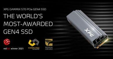 XPG GAMMIX S70 ได้รับรางวัล 2021 COMPUTEX d&i  SSD Gen4 ที่ได้รับรางวัลมากที่สุดในโลก